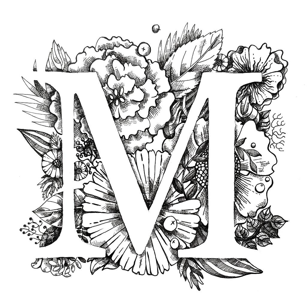 Letter M Illustration