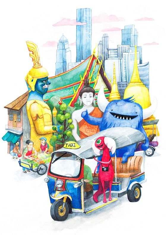 Monsters in Bangkok