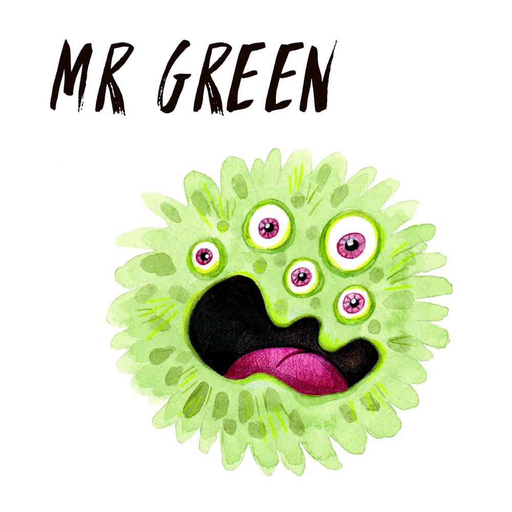 Green Monster watercolour illustration