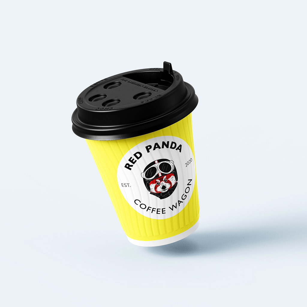 Red Panda Coffee cup