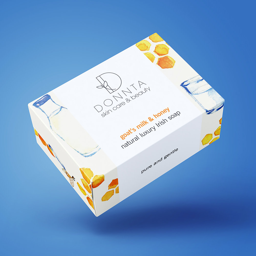 Donnta Milk Honey Soap Packaging Design