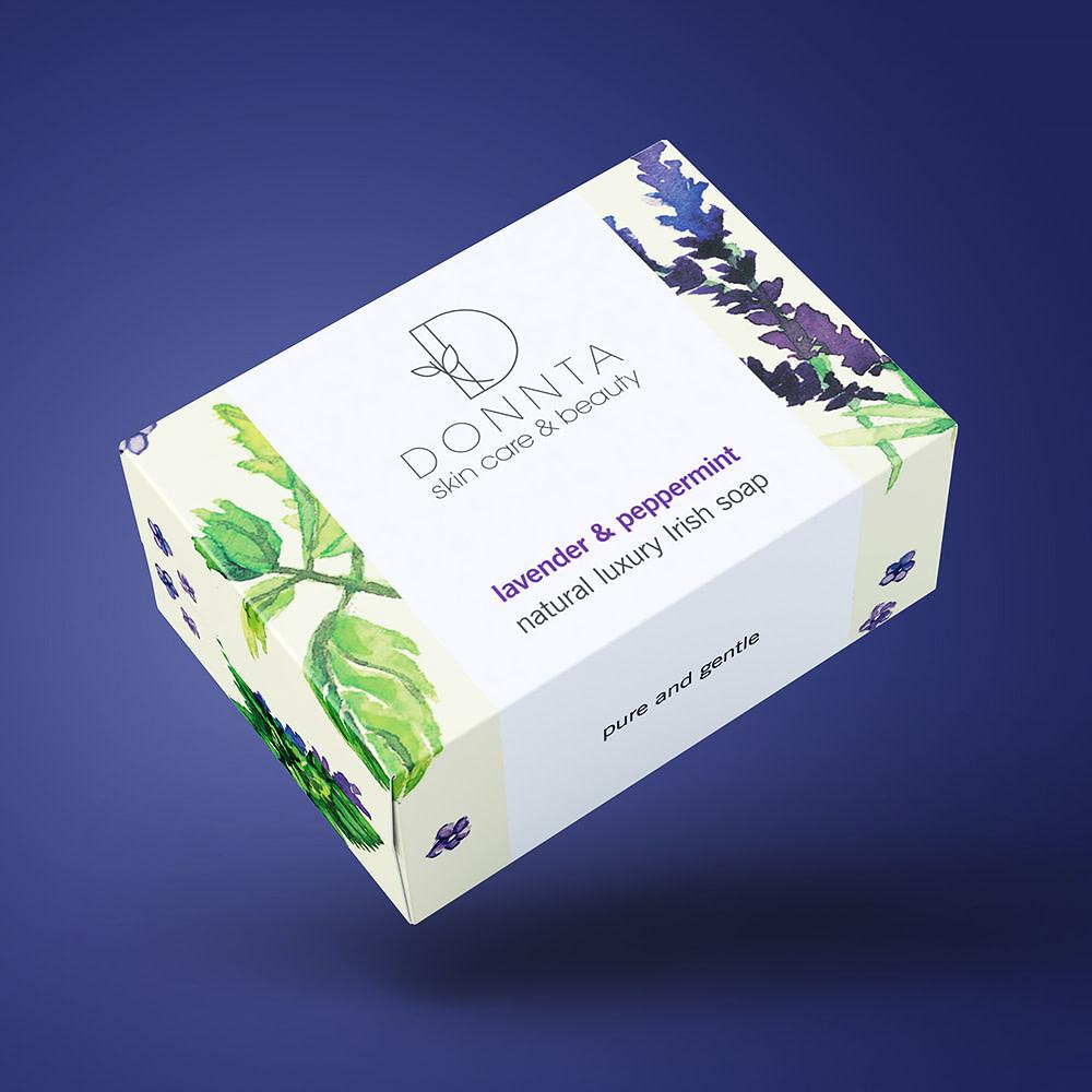 Donnta Peppermint Soap Packaging Design