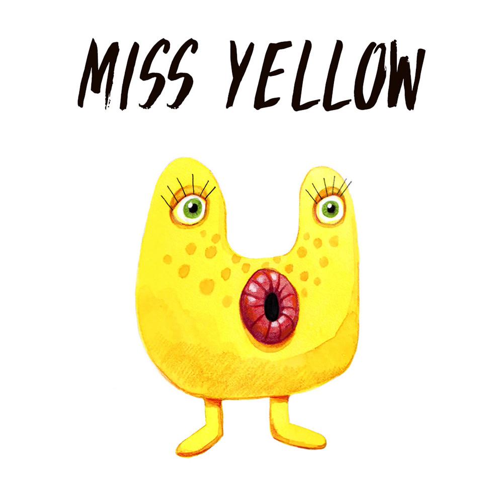 Yellow Monster watercolour illustration
