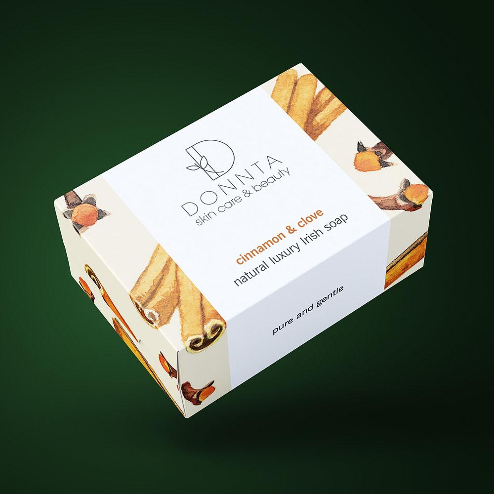 Donnta Cinnamon Soap Packaging Design