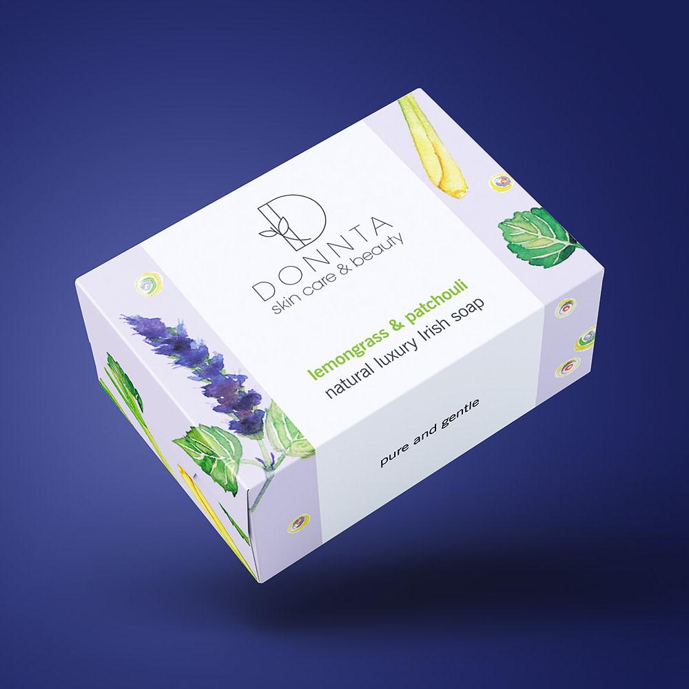 Donnta Patchouli Soap Packaging Design