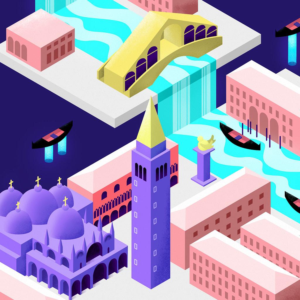 Futuristic Isometric Venice