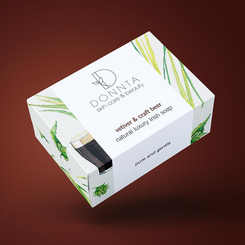 Donnta Beer Soap Packaging Design