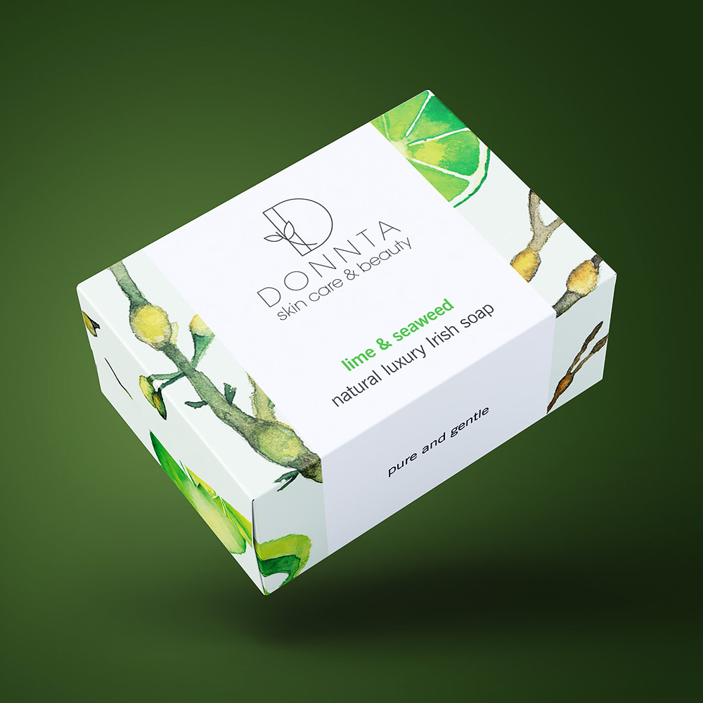 Donnta Seaweed Lime Soap Packaging Design