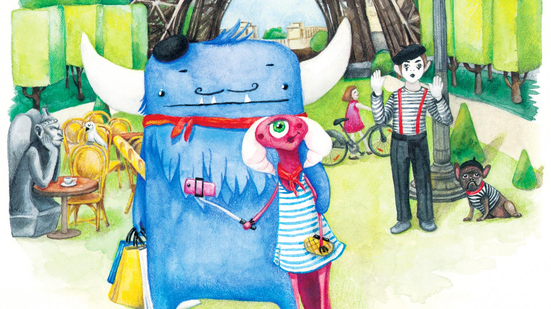 Monsters in Paris Illustration Detail