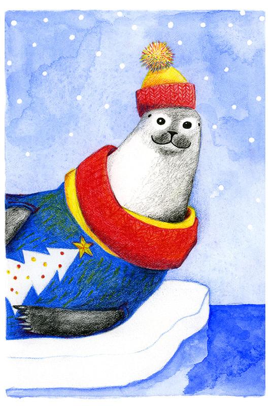 Seamus the Seal Illustration